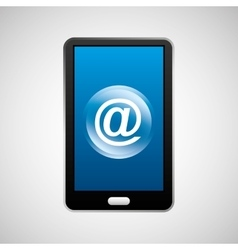 Smartphone mail social network media icon vector