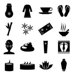 Spa icons set simple style vector image