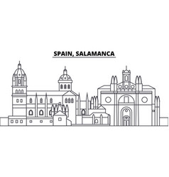 Spain salamanca line skyline vector
