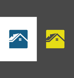 square home icon logo vector image
