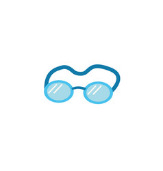 Swimming goggles flat style icon vector