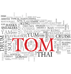 Tom word cloud concept vector