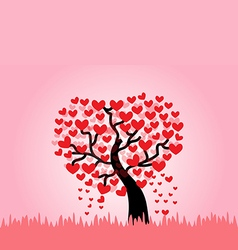 Tree of love vector