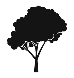 Tree with a rounded crown icon simple style vector image