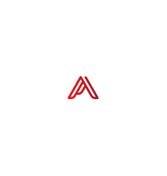 triangle a initial business logo vector image