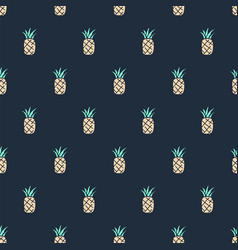 tropical cute hand drawn doodle pineapple vector image