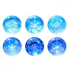 winter balls vector image