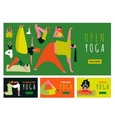 yoga banners set vector image