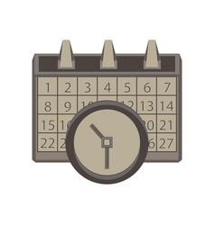 calendar clock icon time date symbol sign concept vector image vector image