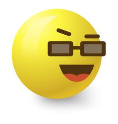 cool smiley icon cartoon style vector image vector image