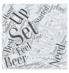 Getting set up to make beer word cloud concept vector