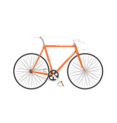 highway cruiser bicycle isolated icon vector image vector image