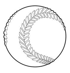 baseball ball icon outline style vector image