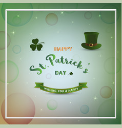 happy stpatricks dayblurred bokeh with star vector image vector image