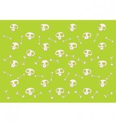 skulls and bones pattern vector image vector image