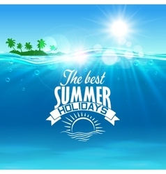 Vacation summer holidays and travel design vector image vector image
