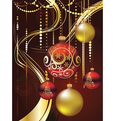 Decorative Christmas Ornaments vector image