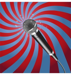 Microphone Rays vector image vector image
