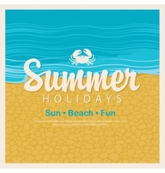 Travel banner word summer holidays vector image