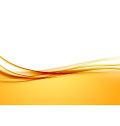 Abstract orange swoosh satin wave line border vector image vector image