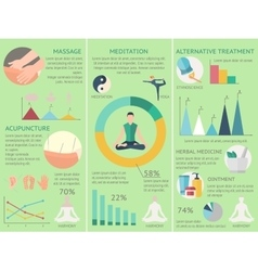 Acupuncture Infographics Set vector image vector image
