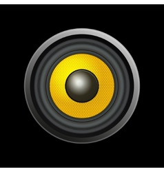 Speaker Isolated on Black Background vector image vector image