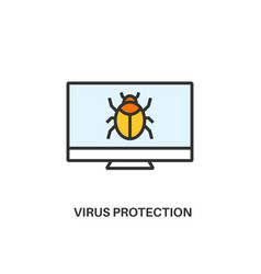 virus protection icon vector image