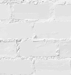 White brick wall seamless vector image