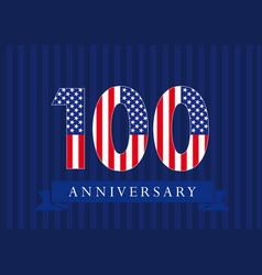 100 anniversary usa vector