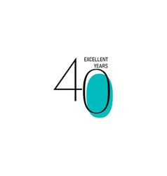 40 years anniversary celebration elegant number vector