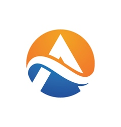 A Letter Logo Template vector