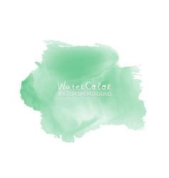 abstract watercolor splash green watercolor drop vector image