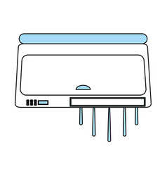 air conditioning unit icon image vector image