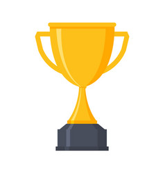 Award cup icon trophy cup gold prize vector