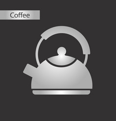 black and white style icon of coffee dishware vector image