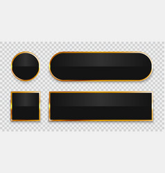 Black glossy buttons vector