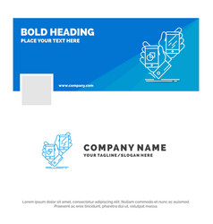 Blue business logo template for awareness brand vector