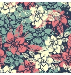 Boho floral seamless pattern vector