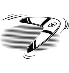 boomerang thrown into the air vector image