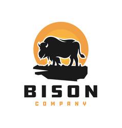 bull animal nature logo vector image