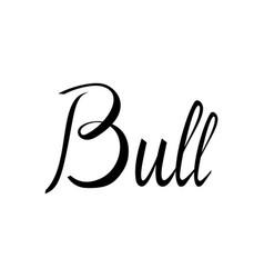 bull lettering american bull vector image vector image