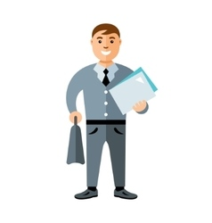Business man Flat style colorful Cartoon vector