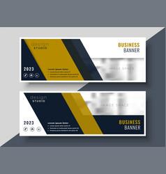 business presentation banner design in geometric vector image