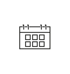calendar date icons vector image
