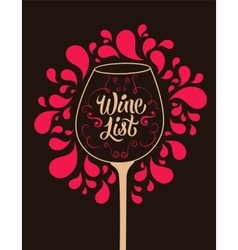 Calligraphic retro style wine list design vector