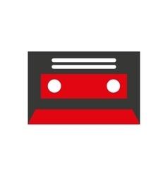 cassette retro isolated icon vector image