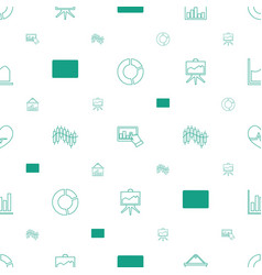 chart icons pattern seamless white background vector image