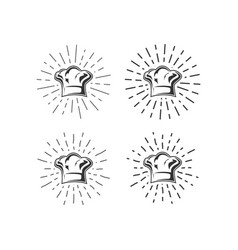 chef hat with sunburst vector image