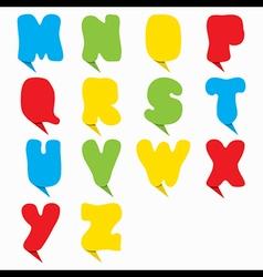 creative colorful alphabet design vector image