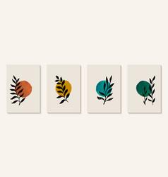 Creative minimalist hand painted abstract art vector